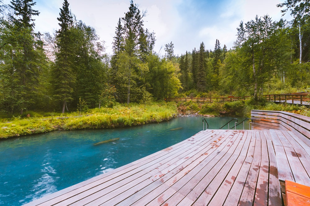 The largest natural hot springs in Canada is Liard River Hot Springs in northern BC
