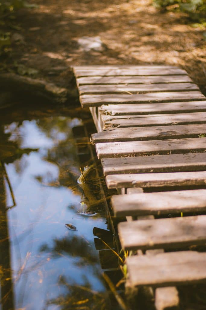 Small bridge on the hiking trails at Jack Seaton Community Park
