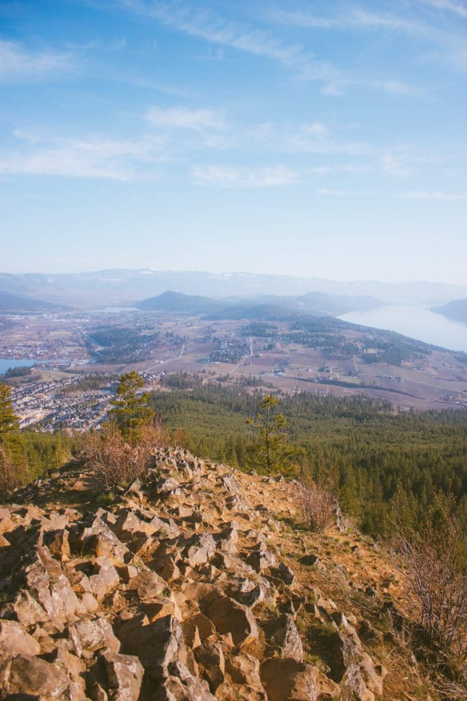 View of Lake Country from the summit of Spion Kop hiking trails