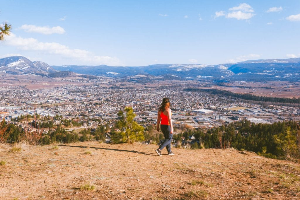 View of Kelowna from Dilworth Mountain Water Tower