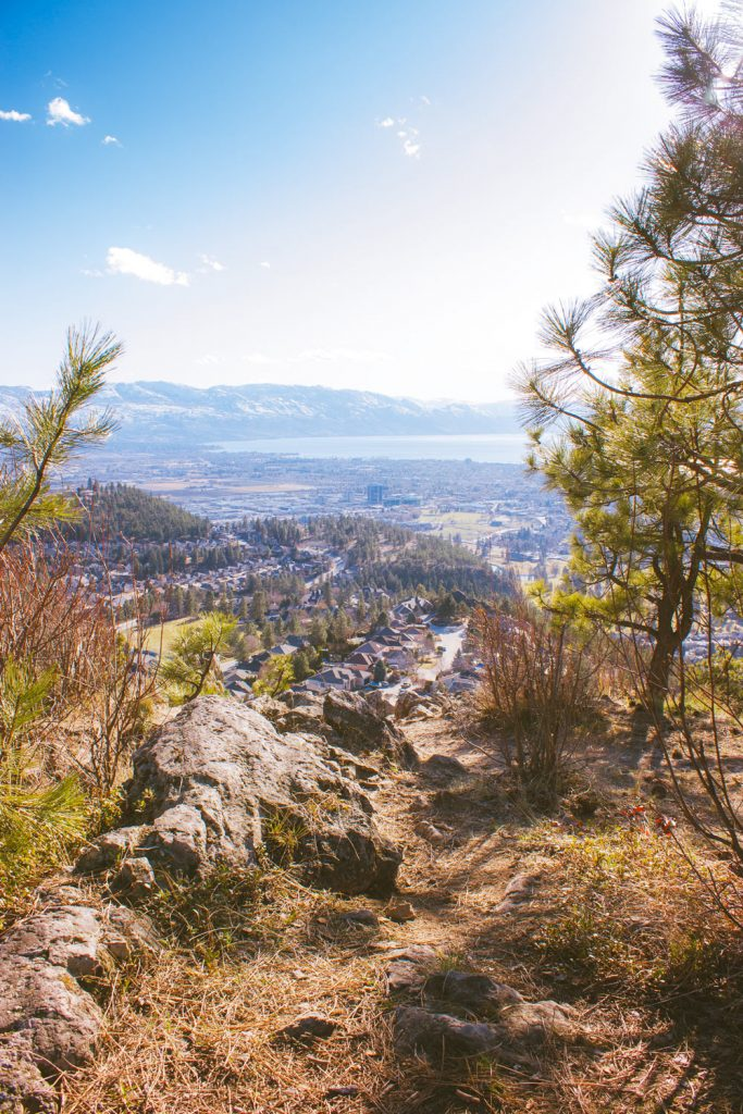View of Kelowna from the summit of the Dilworth Mountain Water Tower hike