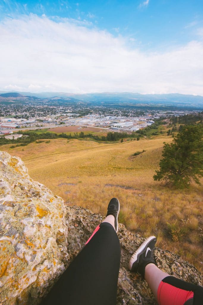 Mt Baldy is an easy hike in Kelowna with a great view of the city