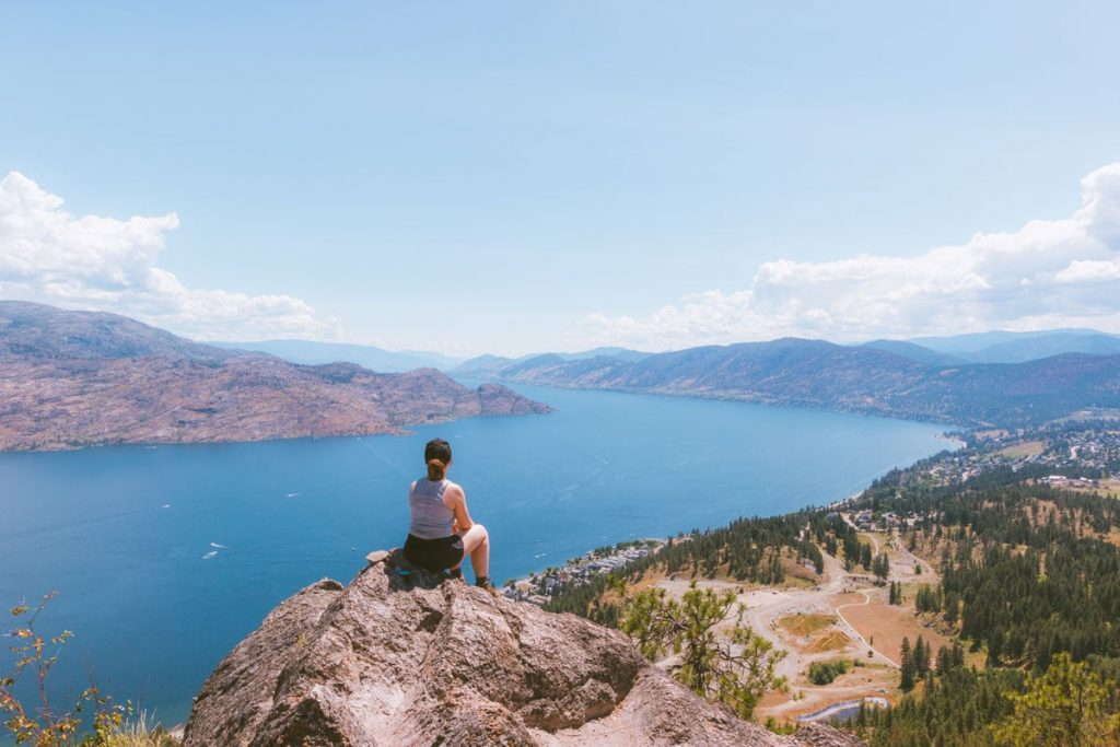 View towards Penticton from the mountain in Peachland