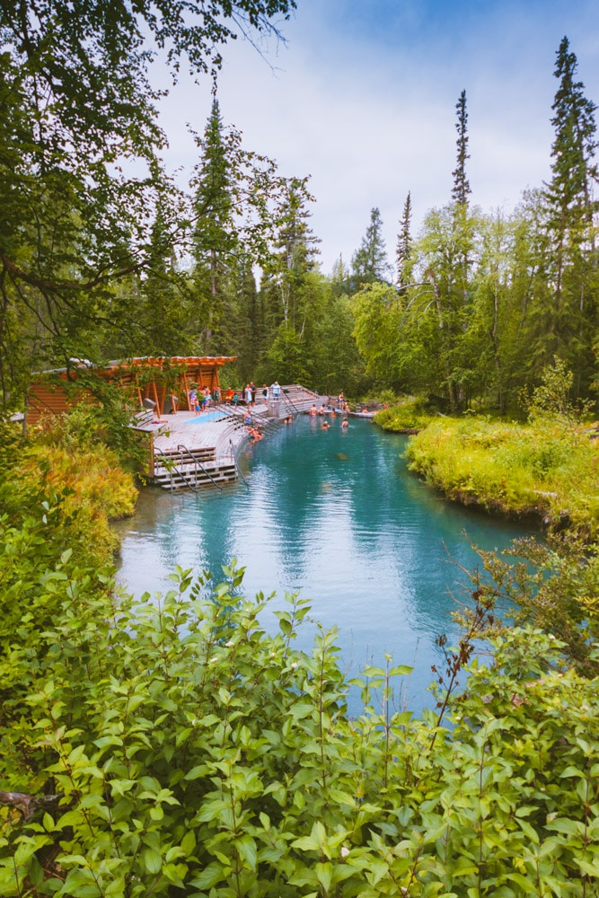 Liard River Hot Springs in the summer.