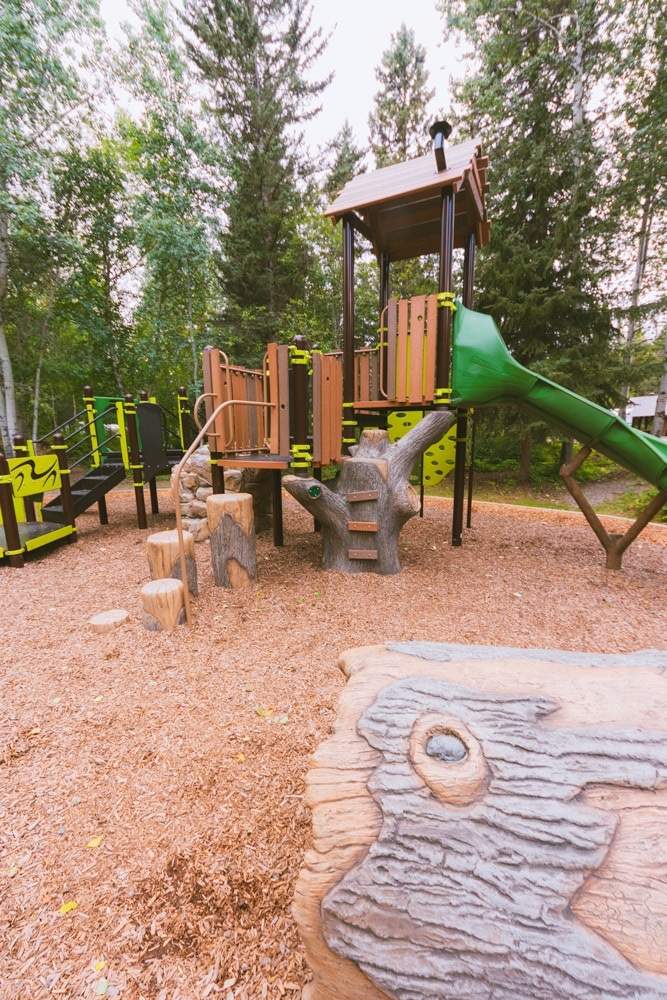 Playground at the Liard River Hot Springs campground