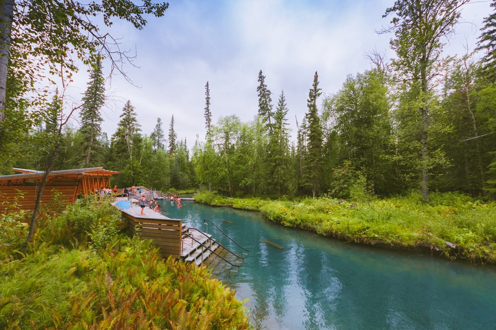 Liard River Hot Springs in northern BC during the summer