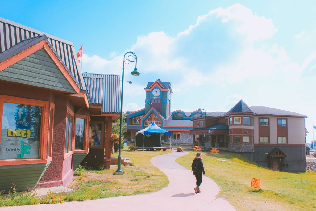 The Village at Big White in the summer.
