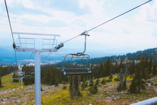 The Bullet Chair at Big White in the summer