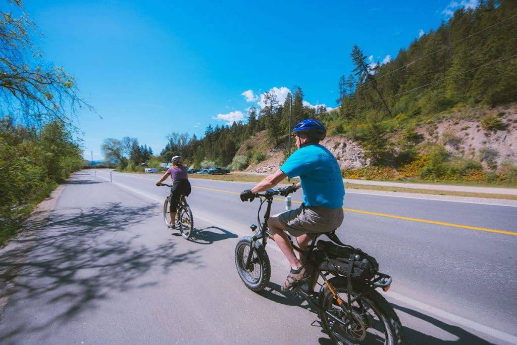 Biking with my mom and dad in the Okanagan.