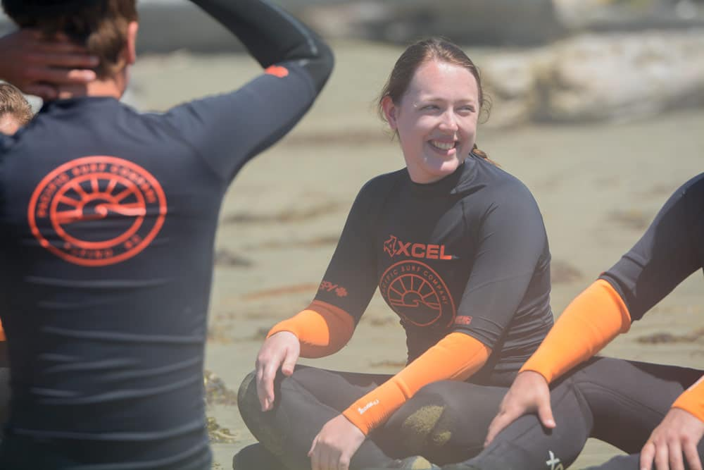 Learning surfing techniques and safety with Pacific Surf Co