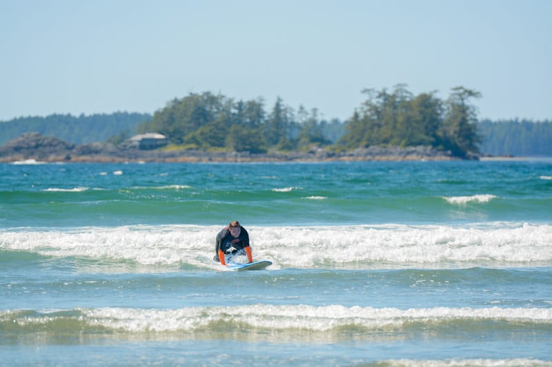 Surfing lessons in Tofino, BC
