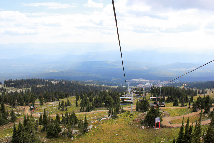 View towards Big White from the top of the Bullet Express chairlift.