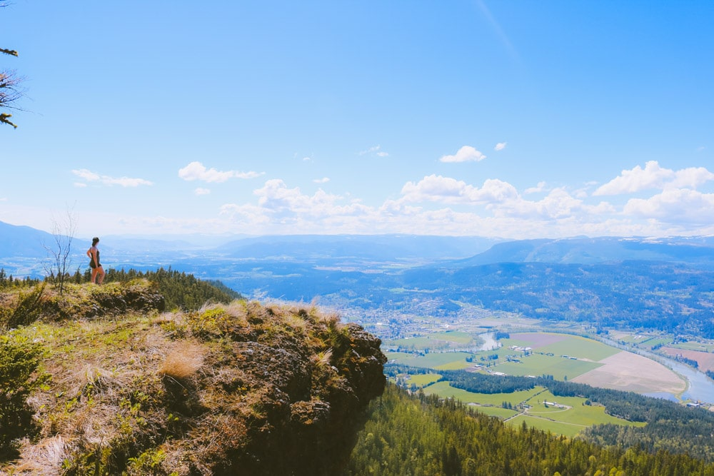 View of the Okanagan from the Enderby Cliffs hike, part of the Okanagan bucket list