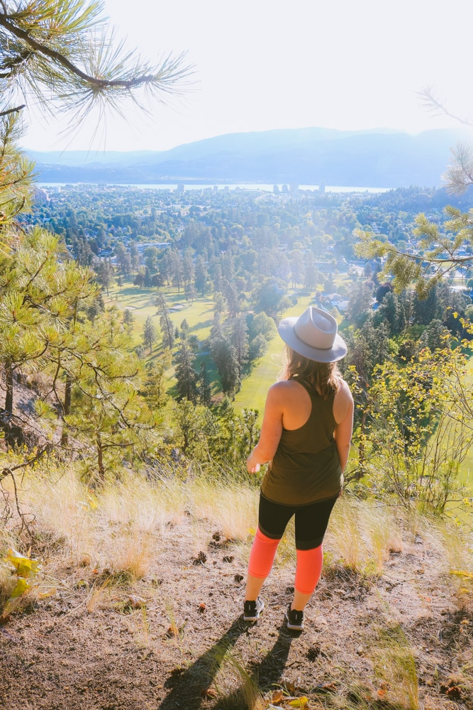 The view of Kelowna from Dilworth Mountain Park is beautiful
