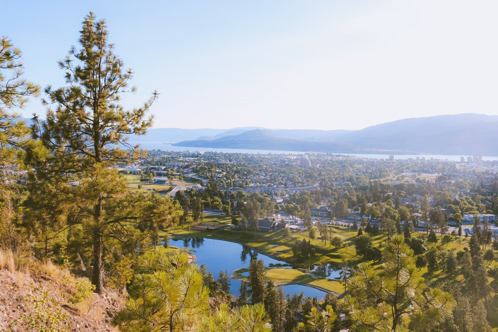 Stunning view of Kelowna from Dilworth Mountain Park