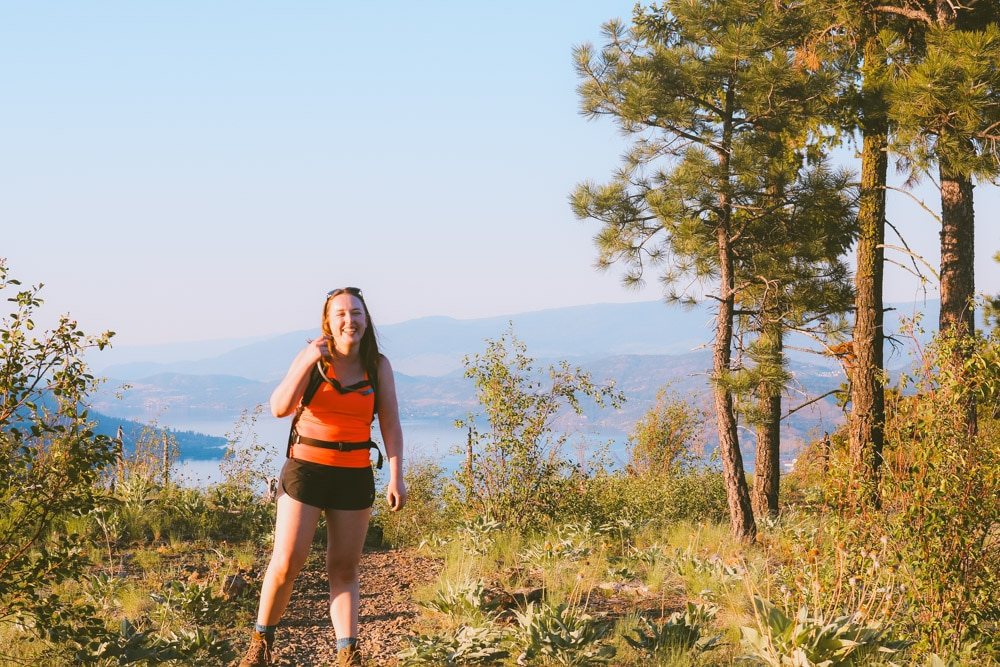 The Eain Lamont Trail is a moderately difficult hike with beautiful views of the Okanagan Valley.