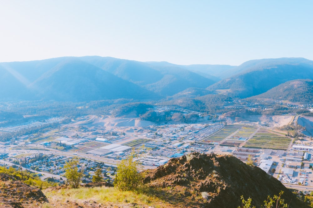 View of West Kelowna from the summit of the Eain Lamont hiking trail