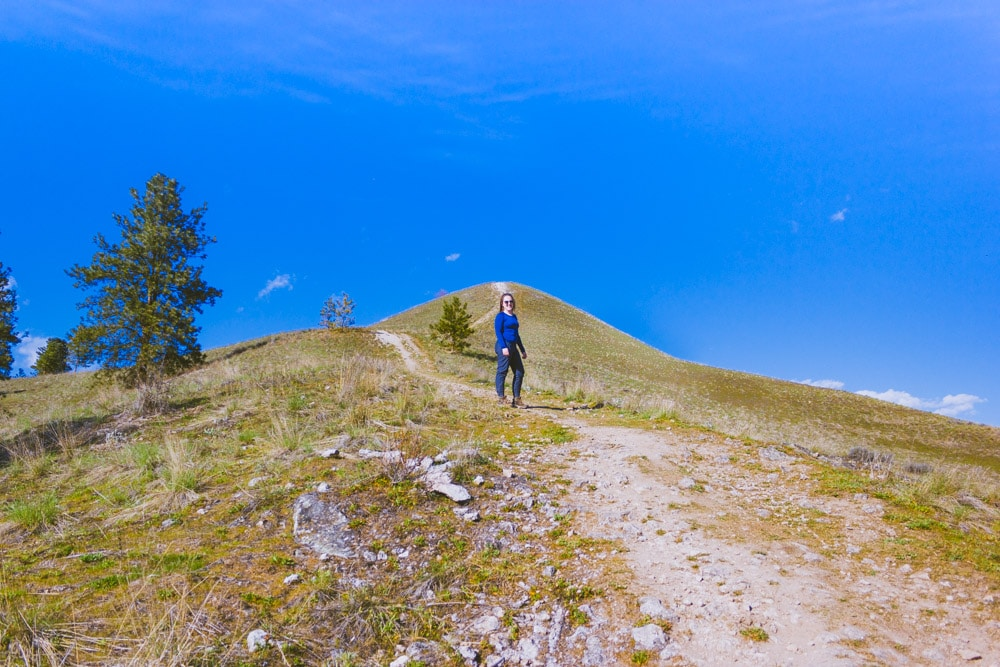 Hiking up the steep spine of Mt Baldy in Rutland