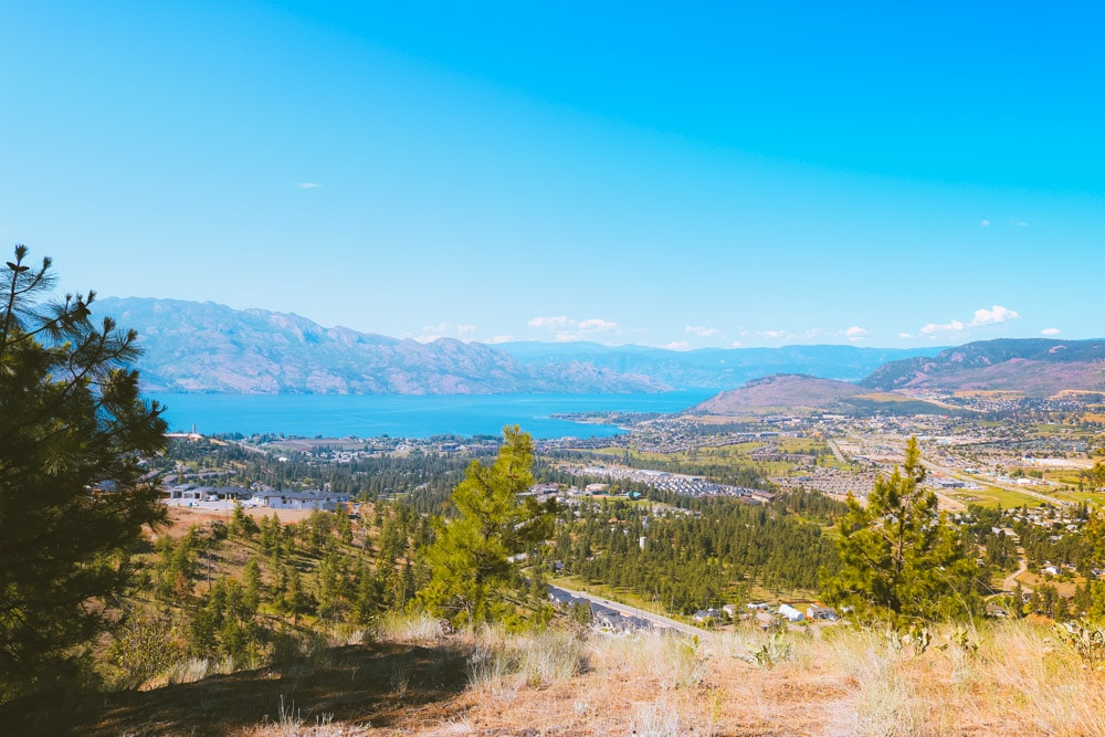 View over West Kelowna and Okanagan Lake from the Boucherie Rush Trail