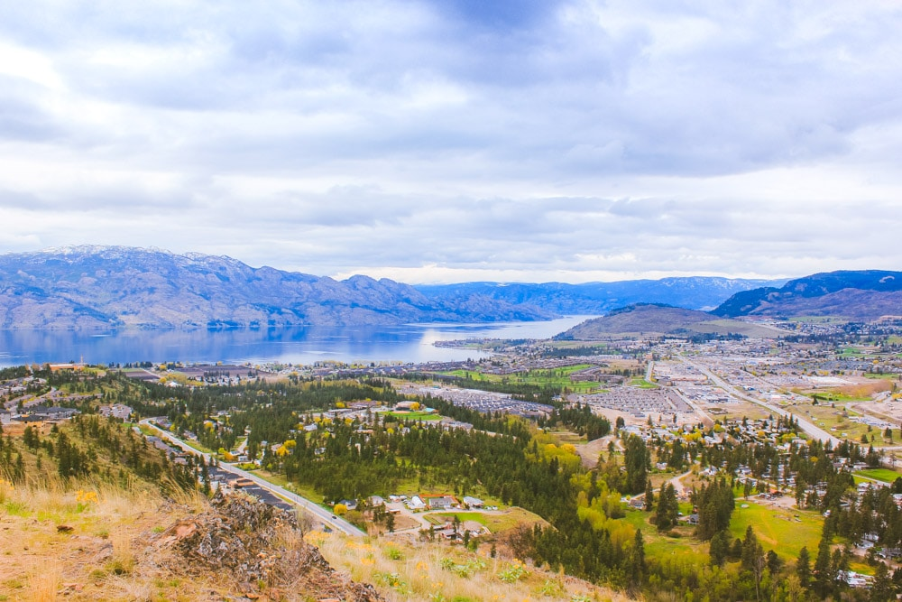 Scenic view of West Kelowna and Okanagan Lake from the Boucherie Rush Trail