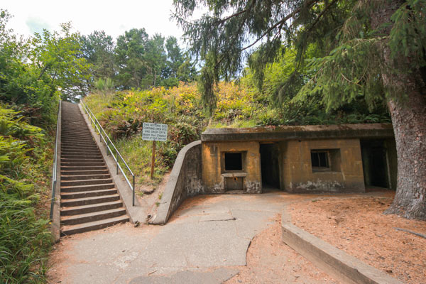 The entrance to Battery Russell at Fort Steven State Park, Oregon.