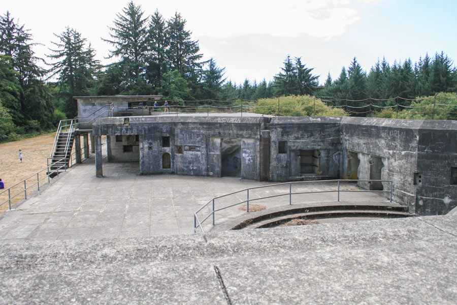 The top level of Battery Russell at Fort Stevens State Park, Oregon.