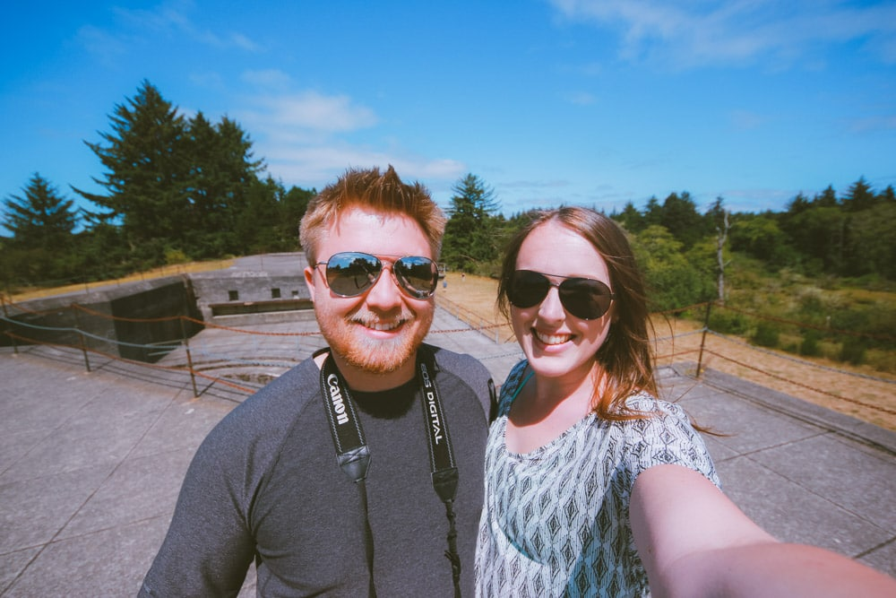 Couple takes a selfie at Battery Russell