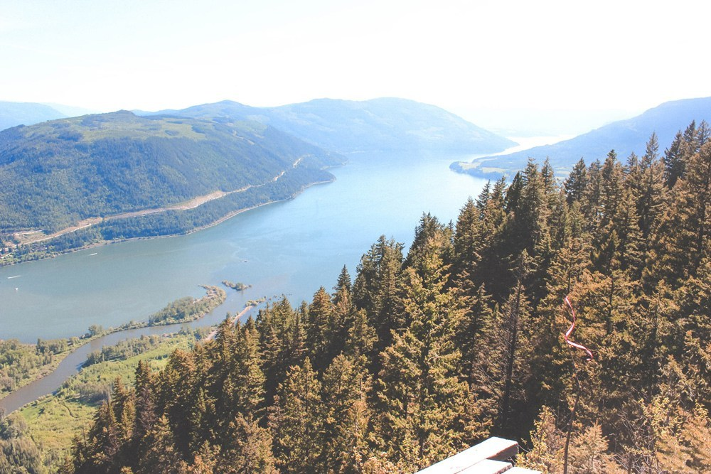 View from Sicamous Lookout overlooking Shuswap Lake