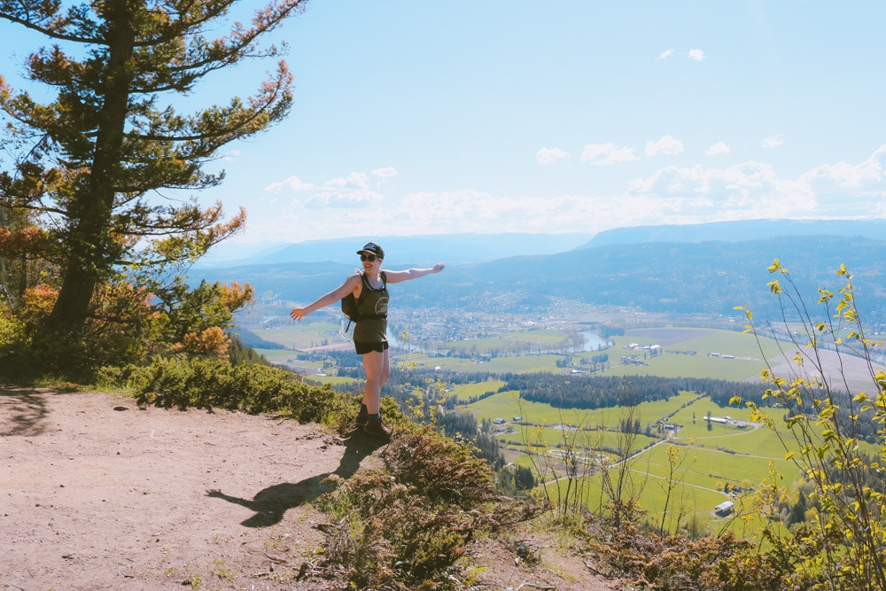 The Shuswap Lookout on the Enderby Cliffs Provincial Park trail