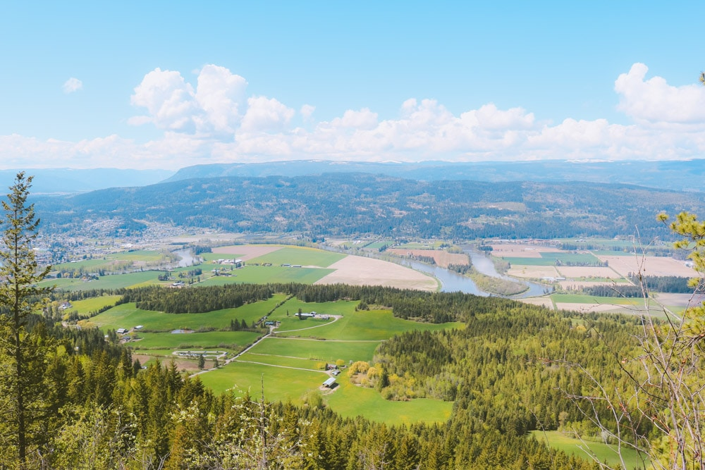 The Shuswap Lookout on the Enderby Cliffs trail. Great viewpoint of the North Okanagan