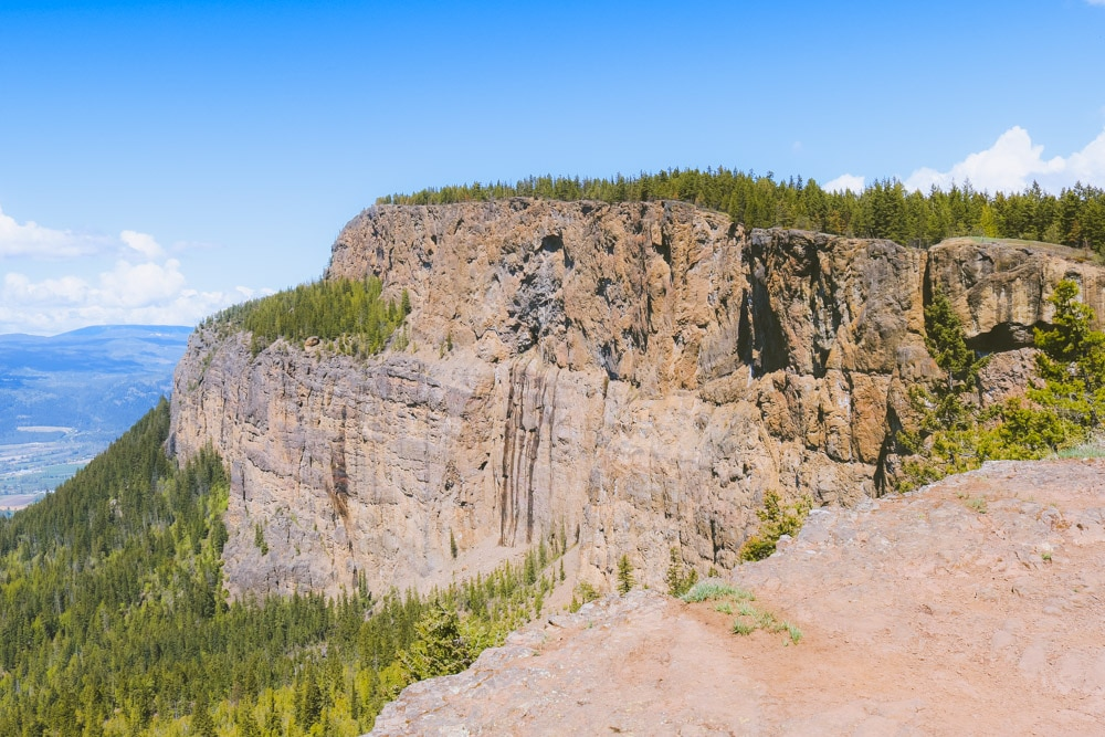 The foot-shaped Enderby Cliffs up close