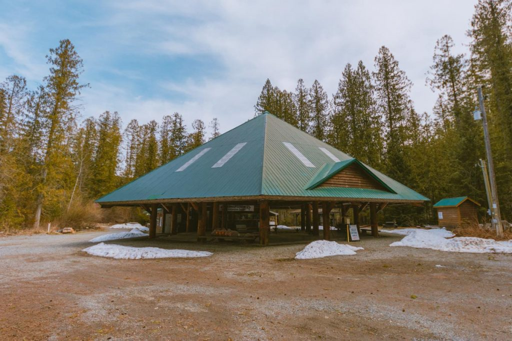 The main building at the Kingfisher Interpretive Centre